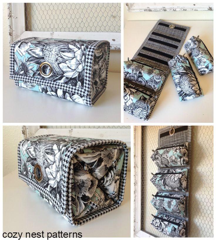 tolle Idee, die einzelnen Taschen mit klett zu verbinden