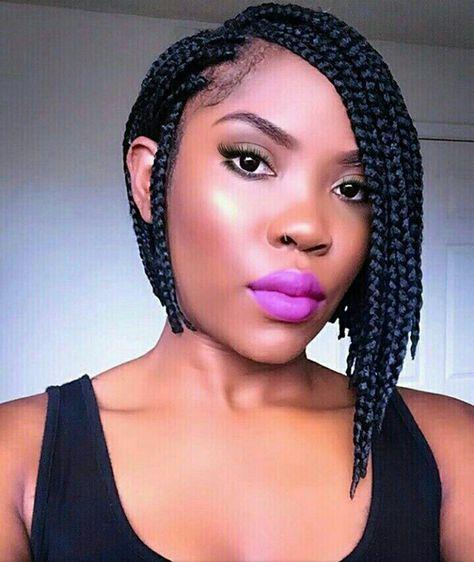 box braids - bob hairstyle in 2019