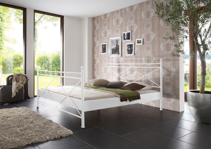 SAM® Metallbett weiß 200 x 200 cm Imola Auf Lager ! - Produktfoto