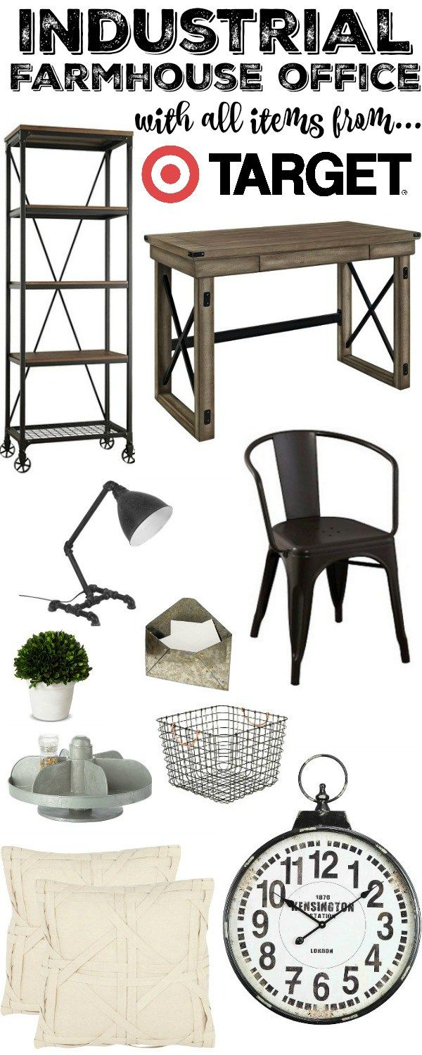 industrial farmhouse office with all target items shop this look on the blog beautiful business office decorating ideas
