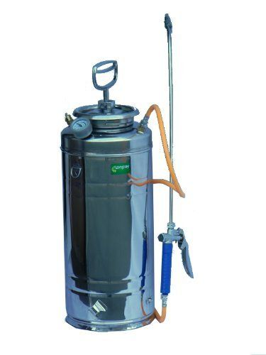 Stainless steel 3-gallon compression sprayer by Longray. $98.00. Curved spraying wand lets you spray into the spaces under, between, and above objects, with almost no effort.. Tough stainless steel body with wide opening for easy filling. 3.2 gal capacity.. Hand-pumped sprayer. No recurring energy costs, environmentally-friendly and wire-free.. Sprays water and non-corrosive pesticides, disinfectants, and other chemicals. Use as directed by chemical's label.. U...