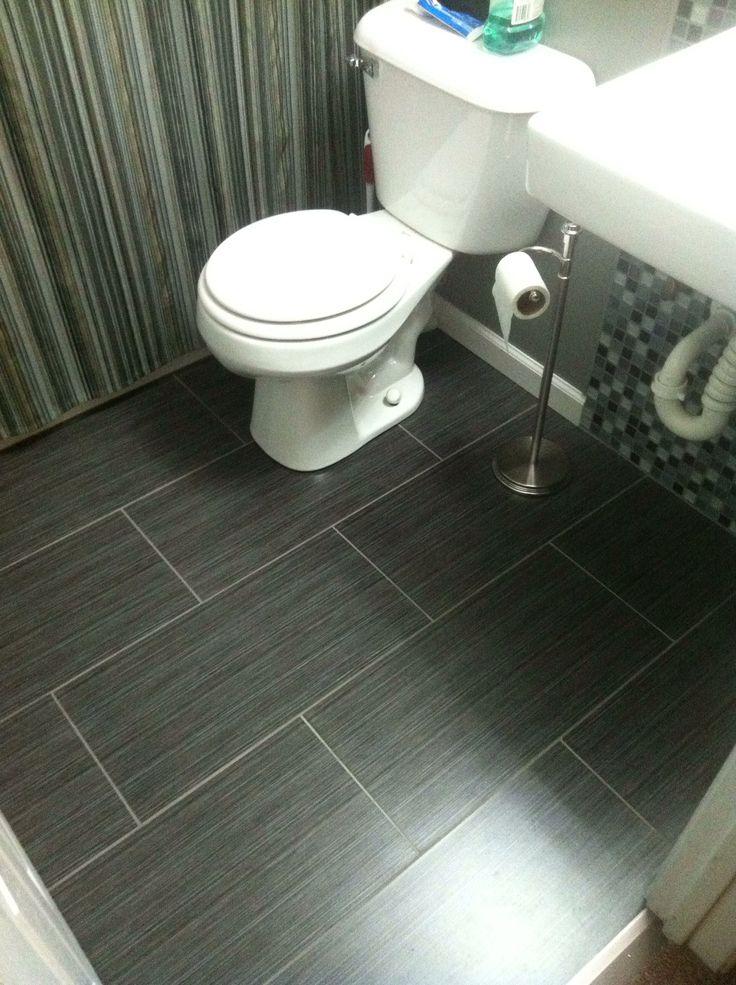 Bathroom floor  I really like this!
