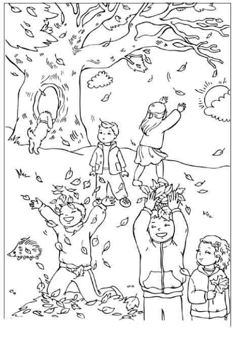 Kolorowanki jesień dla dzieci do druku