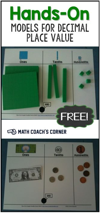 Multiple representations helps students develop a deeper understanding of decimals. Download these place value mats for FREE!