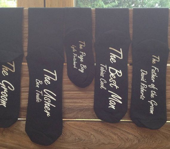 Personalised groomsman socks // Father of the bride // Page boy // Ring bearer // Usher Bestman // Wedding Personalized