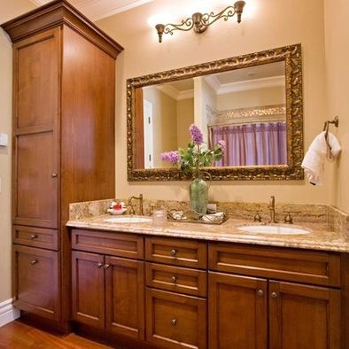 Bathroom design pictures remodel decor and ideas page for Bathroom decorating ideas cherry cabinets