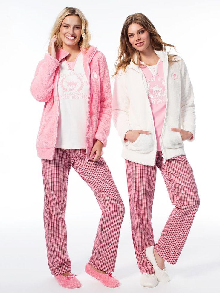 US Polo 15520 Bayan Üçlü Pijama Takım    Mark-ha.com #markhacom #pijama #fashion #newseason #moda #trend #yenisezon #uspolo