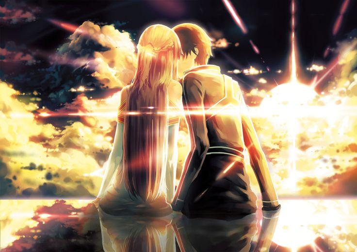 Anime Sword Art Online  Kirito (SAO) Asuna Yuuki Wallpaper