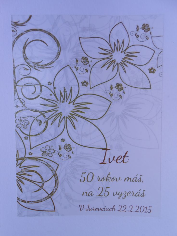 Oslava 50-tych narodenín