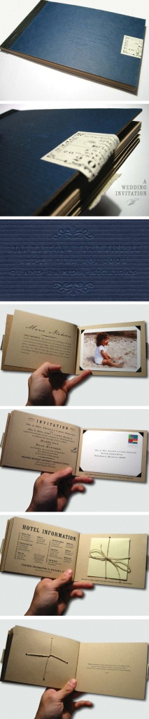 Beautiful invitation booklet -- i'm in love with this; just don't think we can afford it