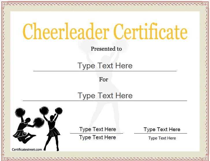 cheerleading certificate templates free - sports certificate cheerleader certificate
