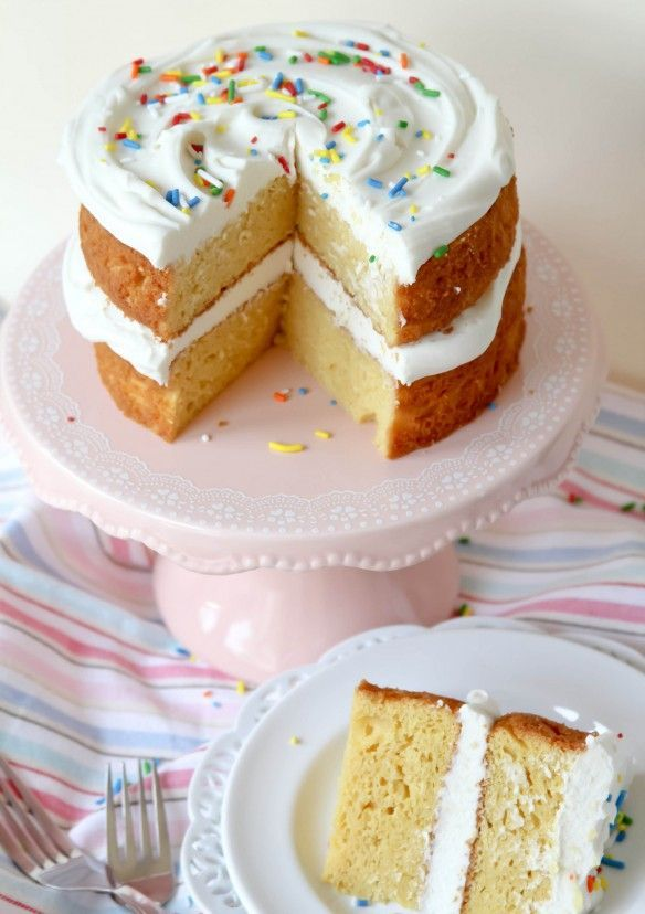 Twinkie Layer Cake -- easy cake and tastes just like eating a giant Twinkie! I always get requests for this cake.