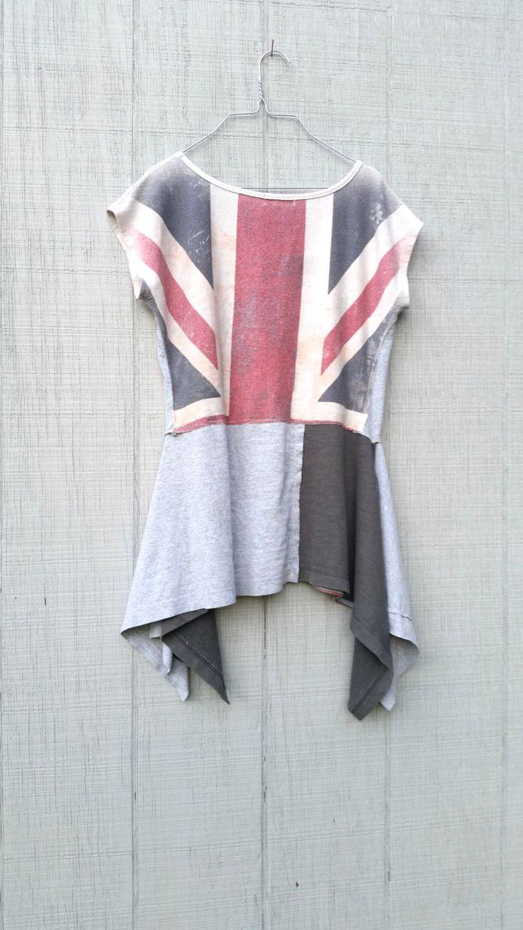 irre London Flagge Tunika Upcycled romantische von CreoleSha