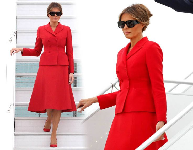 First Lady Melania Trump who is married to the 45th President of the United States, Donald Trump.