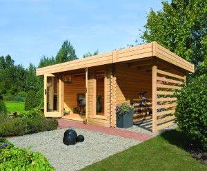 Karibu Gartenhaus Premium Aramir 1 natur Bild 1