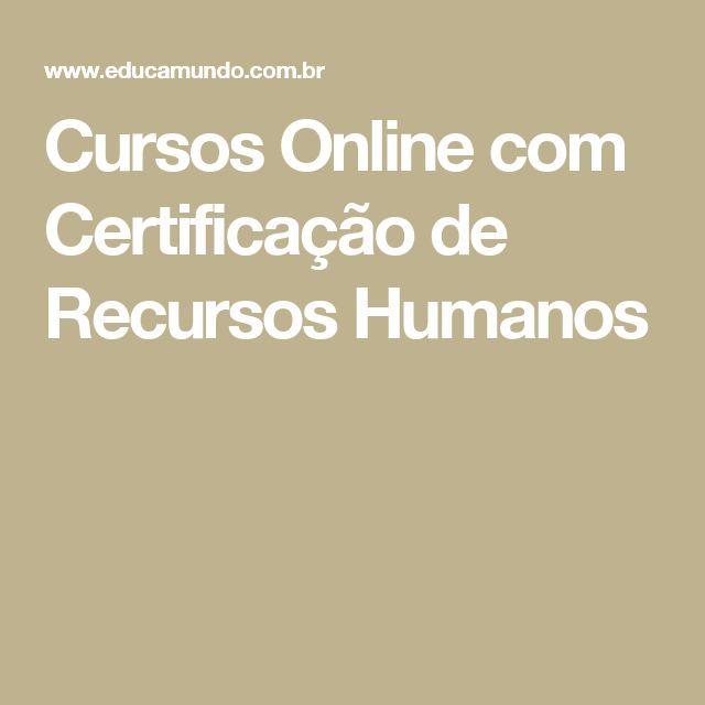 Cursos Online com Certificação de Recursos Humanos