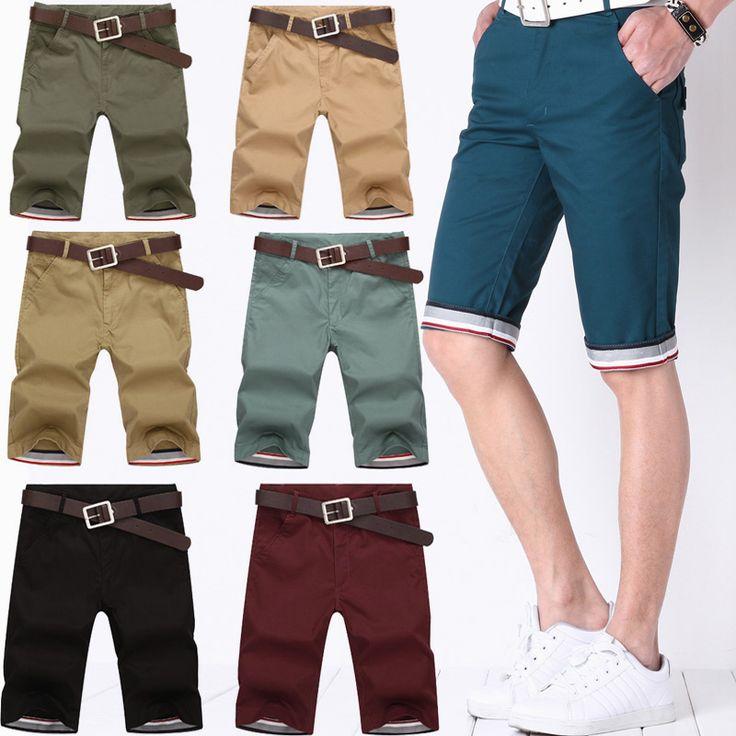 2015 summer men's cotton men's casual pant thin section Pants solid color pants tide Korean version male knee length short pants