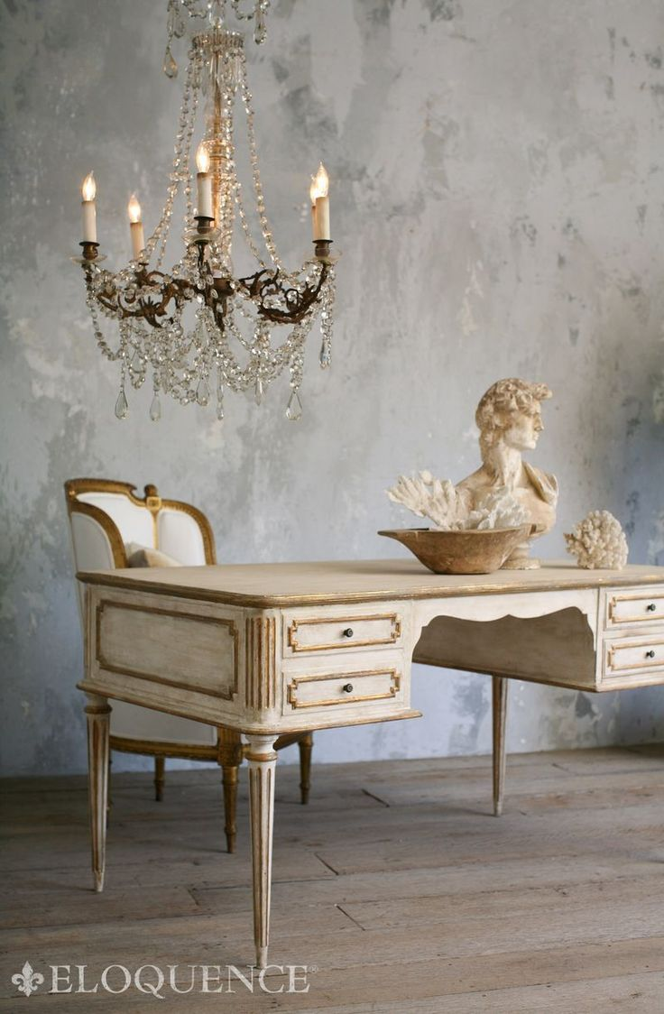 French furniture - Painted Furniture Desk From The Eloquence Collection Coco Madame Desk
