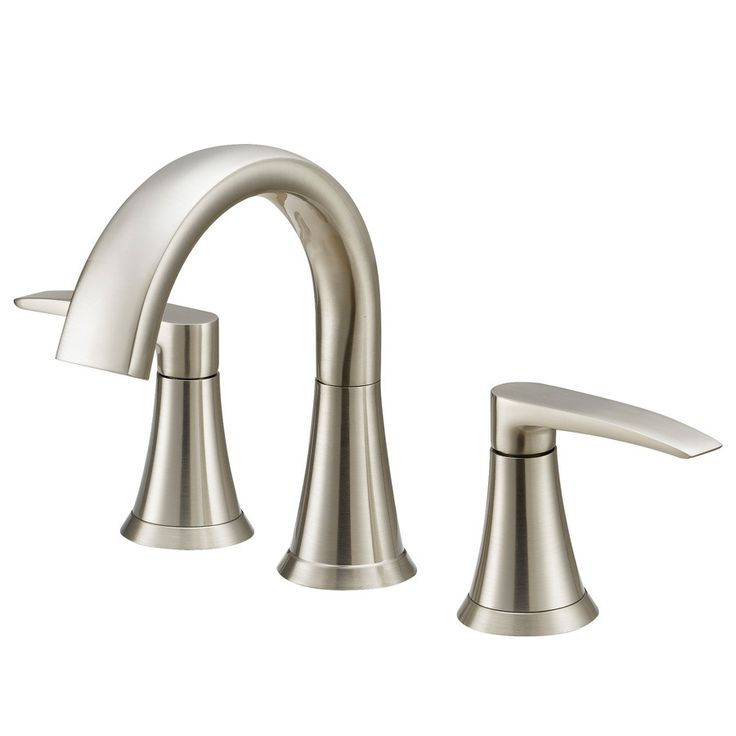 Jacuzzi LYNDSAY Brushed Nickel 2-Handle Widespread WaterSense Bathroom Faucet (Drain Included)