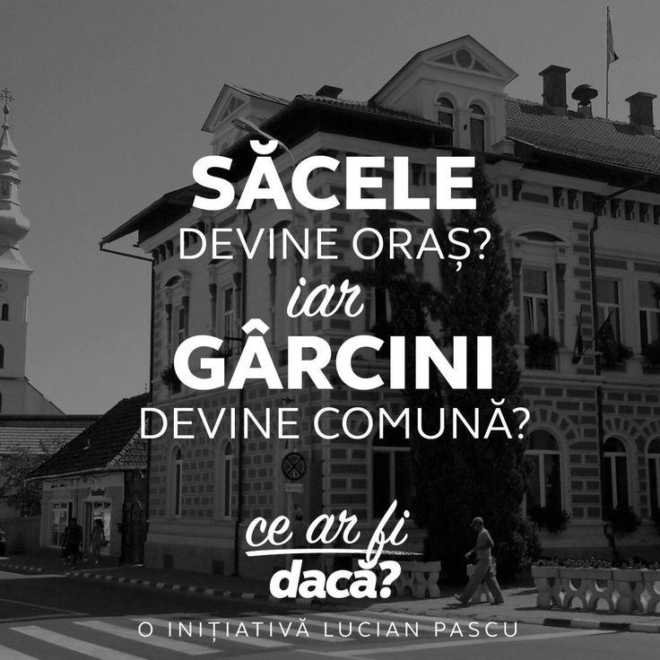 Săcele - oraș, Gârcini - comună. Proiectul lui Lucian Pascu pentru renașterea comunității săcelene