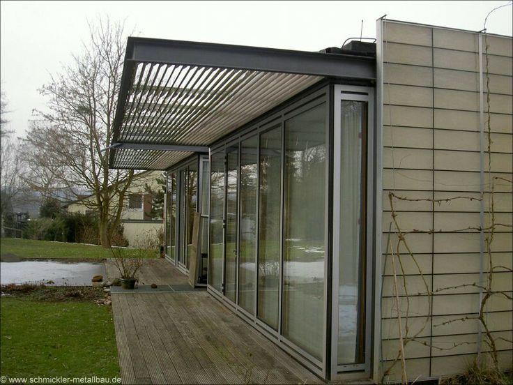 TerrassenUberdachung Holz Mit Sonnenschutz ~ Beschattung  Moderne Häuser  Pinterest
