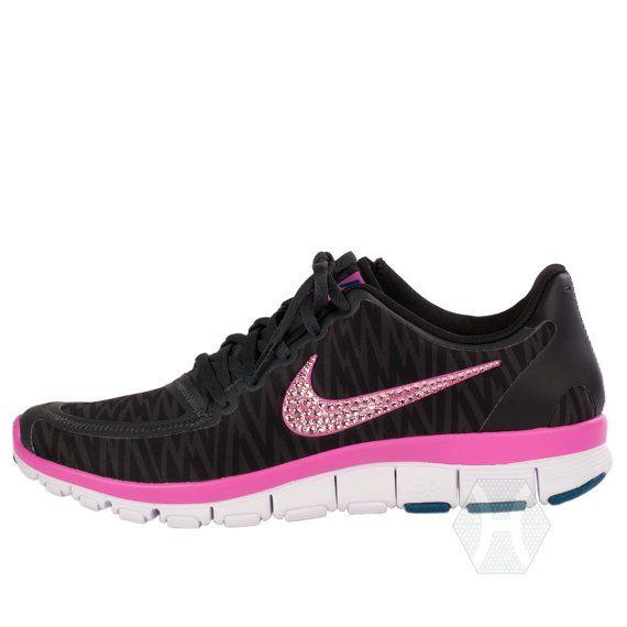 womens nike free 5.0 v4 running shoes pink glitter nail