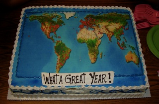 World Map Cake!