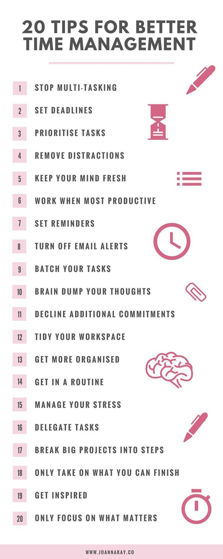 20 Time Management Tips When You Work From Home  http://snip.ly/yqccq?utm_content=buffer9ec73&utm_medium=social&utm_source=pinterest.com&utm_campaign=buffer#https://www.joannakay.co/blog/20-time-management-tips-when-you-work-from-home