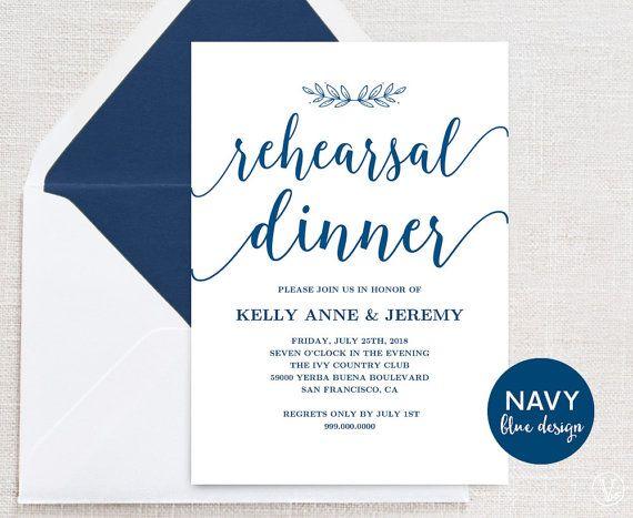 10 best Rehearsal dinner images on Pinterest Rehearsal dinners - dinner card template