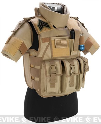 Matrix S.D.E.U. Ultra Light Weight Airsoft Tactical Vest - (Tan), Tac. Gear/Apparel, Body Armor & Vests, Tan / Desert - Evike.com Airsoft Superstore
