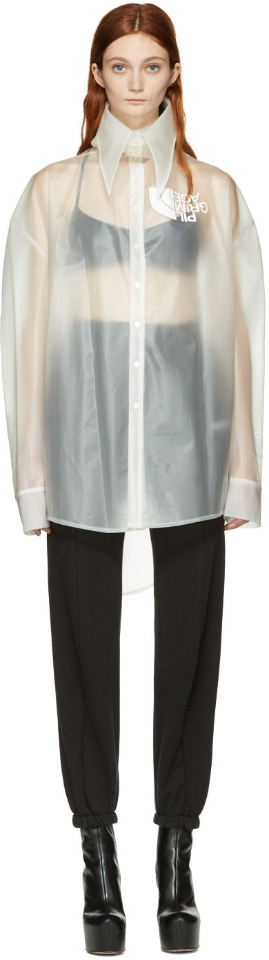 Hood by Air: Transparent Latex Pilgrim Shirt | SSENSE