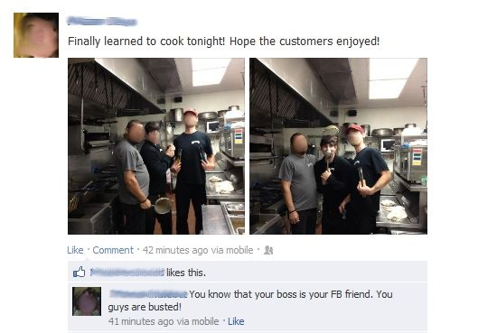 10 idiots who got caught by their bosses on Facebook.