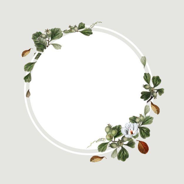 Floral Frame Design Free Psd Freepik Freepsd Background