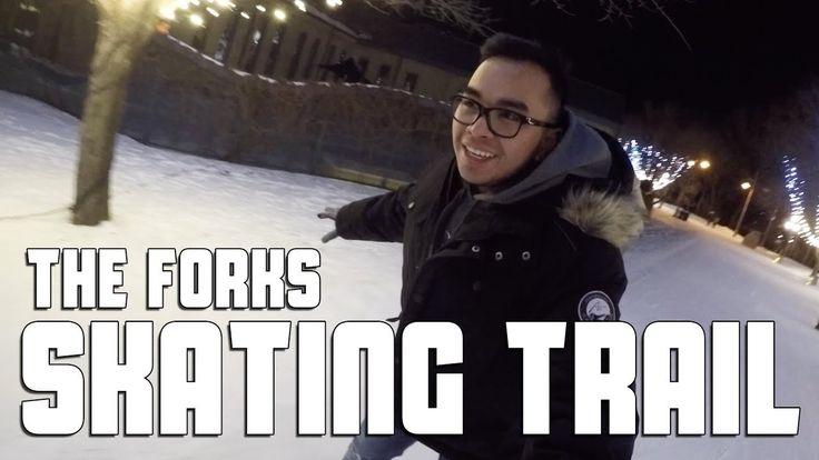 Skating at The Forks Skating Trail