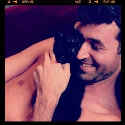 James Deen and a kitten. Yes I know what he does for a living. And no I dont care. Hes gorgeous.