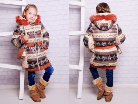Детский зимний комбинезон-костюм Скандинавия для девочки