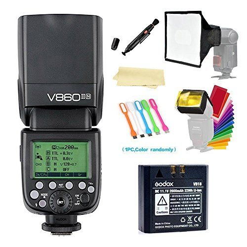 Godox V860II Camera Flash speedlite i-TTL HSS 2.4G Li-ion... https://www.amazon.com/dp/B01E3S6Y04/ref=cm_sw_r_pi_dp_x_nmvcAb1A6PE4Z