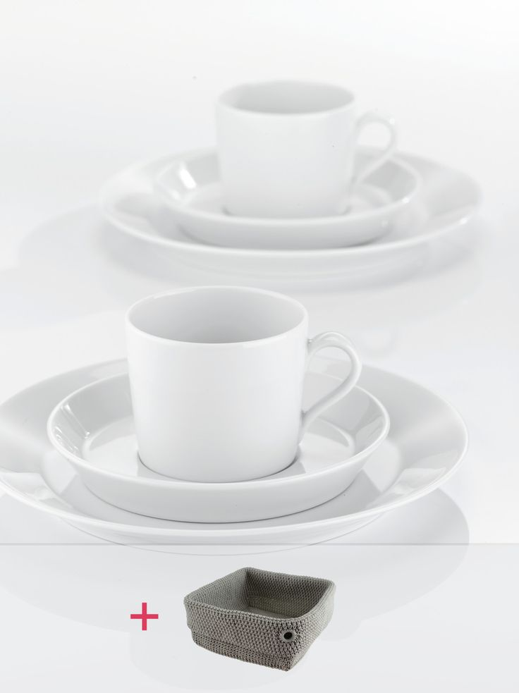 TRIC | WHITE Kaffee-Set 18-tlg. + gratis Brotkorb