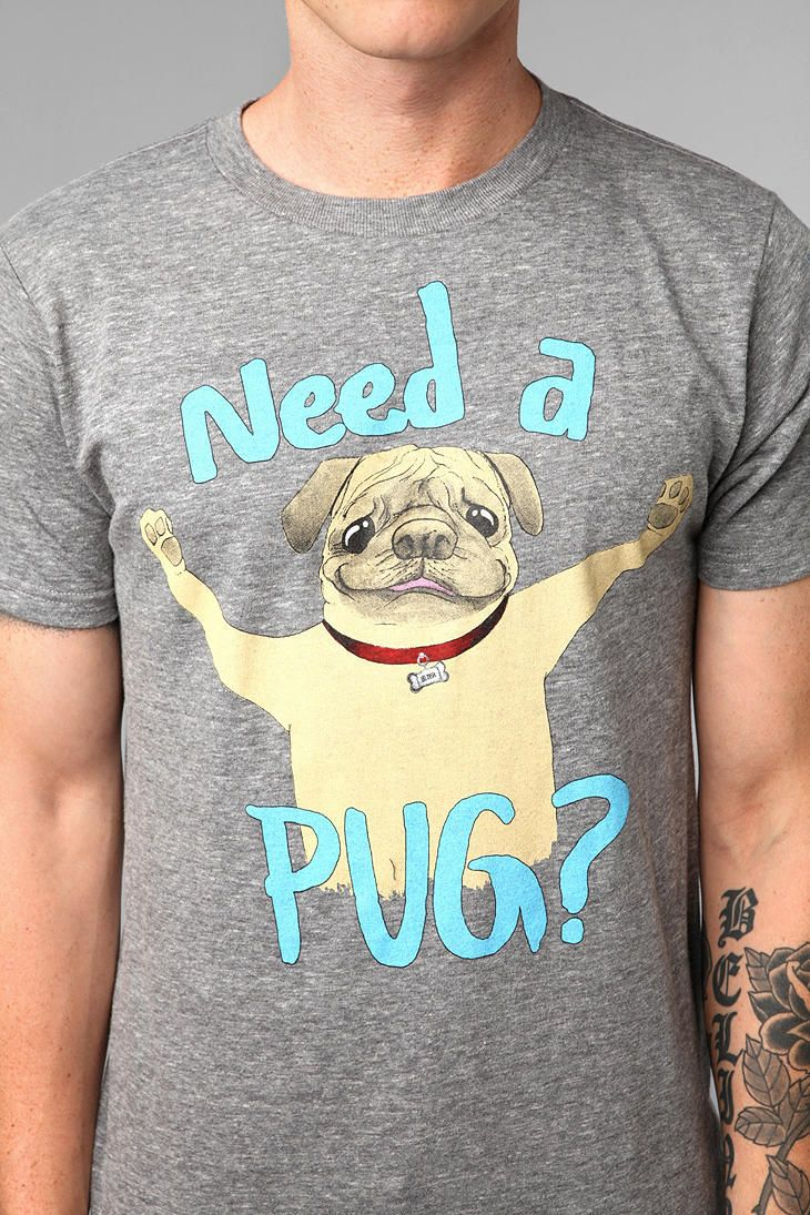 I not only need this shirt - but need ppl to be around that would soo wear this!!!!  #urbanoutfitters #pugs