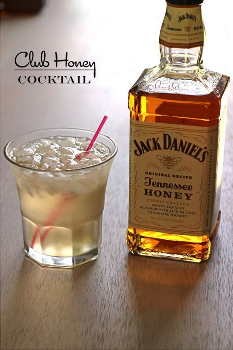 Club Honey cocktail recipe featuring Jack Honey and club soda.