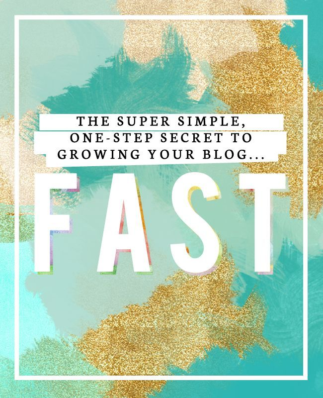 The Super Simple, One-Step Secret to Growing Your Blog FAST #blogging