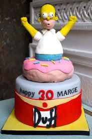 Image result for homer simpson cake