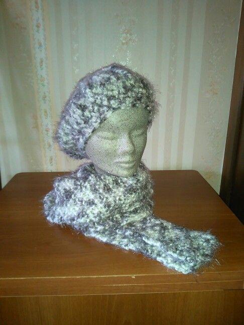 Basco e sciarpa realizzati con lana sfumata!