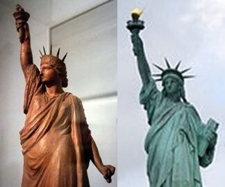 Statue of Liberty Wears Chains and Shackles