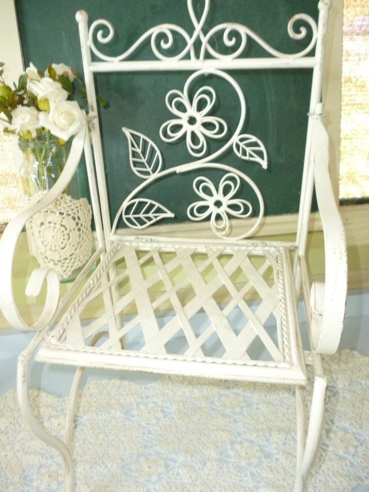 White Childrens Garden Chairs www.capeoflove.com
