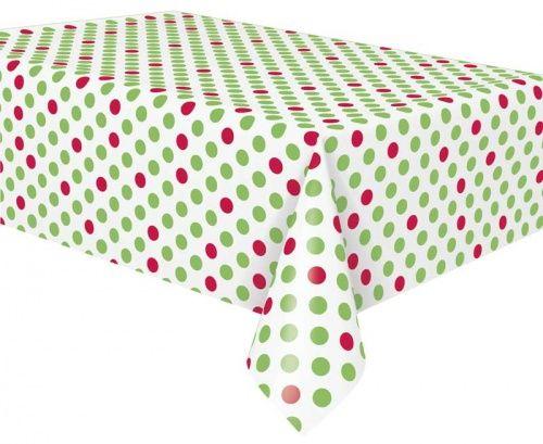 Red u0026 Green Polka Dot Plastic Tablecloths Bulk Pack of 12  sc 1 st  Pinterest & 21 best Christmas Party Plates images on Pinterest | Party plates ...