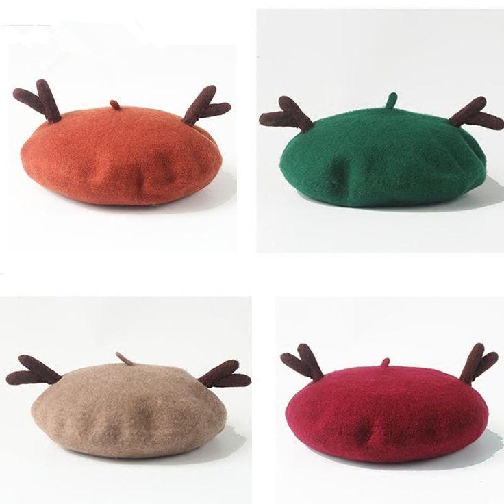 Cute handmade woolen ear cap YV16035