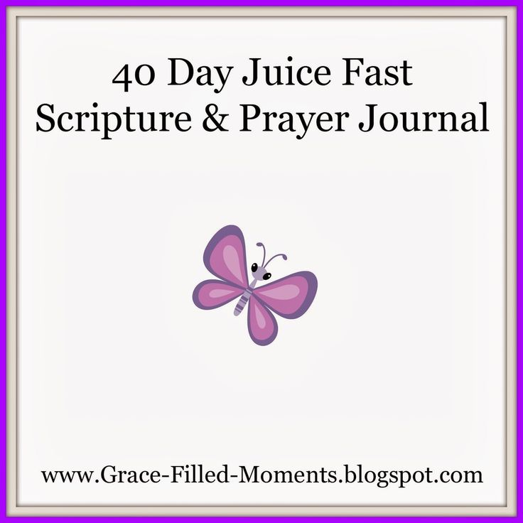 40 Day Juice Fast Scripture & Prayer Journal {Free Printable} #juicefast #juicing #40days #juicefast2014 #juicingmomma