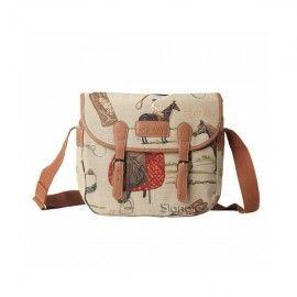 Horse Tapestry messenger Bag