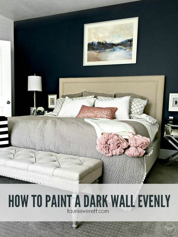 Dark colors are often the hardest for a DIYer to use appropriately and get satisfactory results. Learn how to paint a dark wall evenly with these tips.